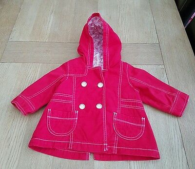 Little Red Mothercare Baby Coat. Age 6-9 Months
