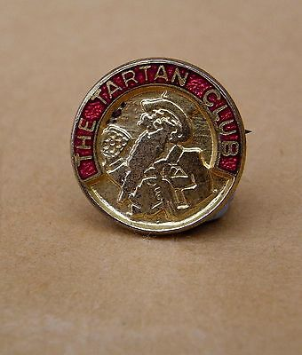 Vintage Tartan Club Enamel Pin Badge - Wm Younger's