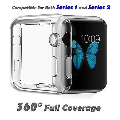 SOFT CASE Screen Protector Sleeve Bumper Skin For iWatch 38MM APPLE WATCH 2