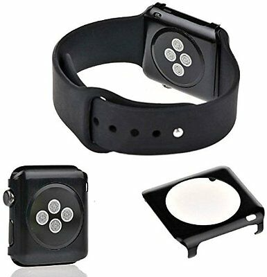 BLACK ALUMINUM Cover Protector Case Bumper Skin For iWatch 38MM APPLE WATCH 1