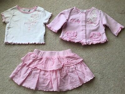 Baby Girls Guess 3 Piece Outfit 3-6 Months