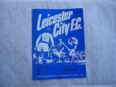1971-2 Charity Shield, Leicester City v Liverpool, Excellent condition!!