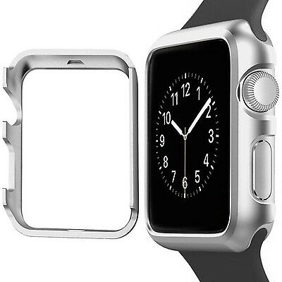 SILVER ALUMINUM Case Protector Sleeve Bumper For iWatch 38MM APPLE WATCH 2