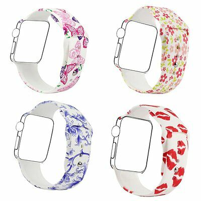BUTTERFLY KISS 4PK S/M Wristband Band Strap Bracelet For iWatch 38MM APPLE WATCH