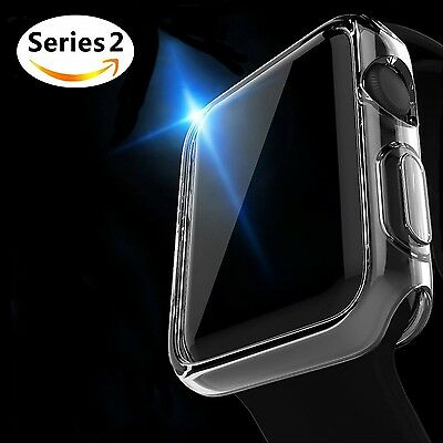 CLEAR CASE Screen Protector Sleeve Bumper Skin For iWatch 38MM APPLE WATCH 2
