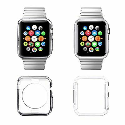 CRYSTAL CLEAR 2PK Cover Protector Case Bumper Skin For iWatch 42MM APPLE WATCH 1