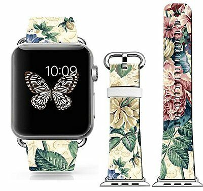 PAINTED FLOWERS Wristband Band Strap Accessories For iWatch 42MM APPLE WATCH