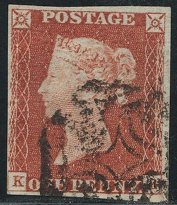 1843 Penny Red  Spec BS25 Plate 36 (KB)   Fine Used 4 Margins