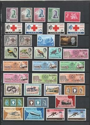 Gambia Qe2 Lot On 4 Pages