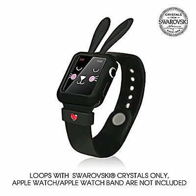 BLACK BUNNY Cover Protector Sleeve Case Bumper Skin For 38MM APPLE WATCH iWatch