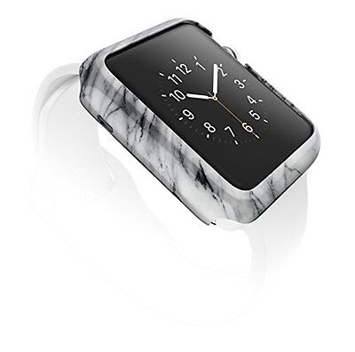 CLASSIC GREY MARBLE Cover Protector Case Bumper For 42MM APPLE WATCH iWatch 1