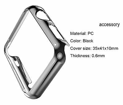 GREY HARD Cover Protector Sleeve Case Bumper Skin For iWatch 38MM APPLE WATCH 1