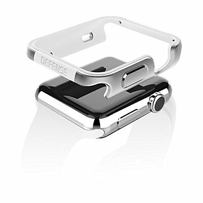 SILVER WHITE Hard Cover Protector Case Bumper Skin For iWatch 42MM APPLE WATCH 1