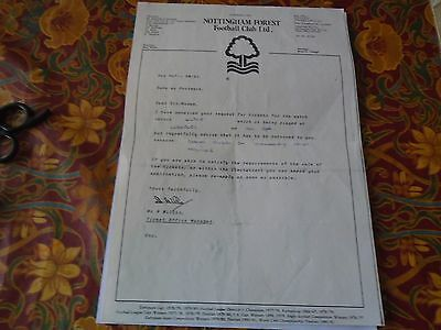 A Forest Football Letter