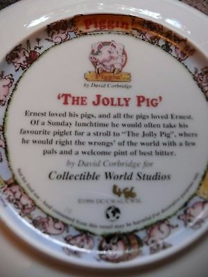 David Corbridge Collectable Piggin Plate The Jolly Pig