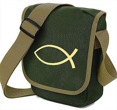 Ichthys Fish Christian Symbol Bag Reporter Shoulder Bags Gift Simple Ichthus