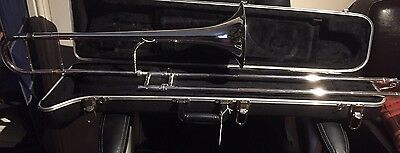 1940S King silver-plated 2B   Tenor Trombone in good condition