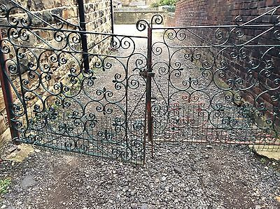 heavy solid wrought iron gates