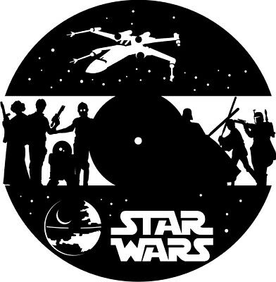 DXF CDR AND EPS File For CNC Plasma or Laser Cut - Star Wars Clock