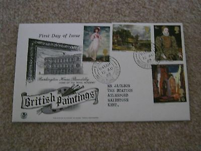 Stuart First Day Cover British Paintings August 1968 - Aylesford  Maidstone H/S