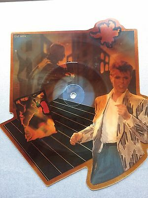 """Rare David Bowie 7"""" Shaped Picture Disc, Loving The Alien, EAP195, VG Condition"""