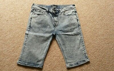 River island denim shorts size 32