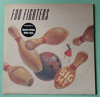 Foo Fighters - Big Me Special Edition White Marbled Vinyl 7'' Single. Dave Grohl