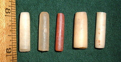 """(5) Damaged (1"""") Sahara Neolithic Plugs/Labrets, Prehistoric African Artifacts"""