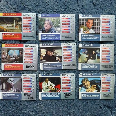 James Bond 007 Spy Files Trading Cards 8 different and decoding lenses