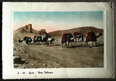 SYRIA # POST CARD to CZECHOSLOVAKIA, 1958. PALMYRA.