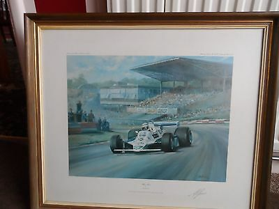 Formula 1 Limited Edition Print Signed By Alan Jones