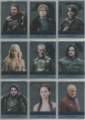"""Game of Thrones Season 5 """"Reflections"""" Set of 16 Double-Sided Chase Cards RM1-16"""