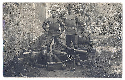 K.u.k Portrait Foto Maschinengewehr Truppe,kuk photo soldier,machine gun,italy