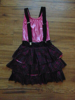 Ballet Dance Figure Skating Dress Ladies Size Small Pink Ginham Sparkle