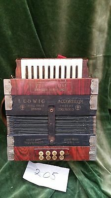 Ludwig Melodeon c.1880 with lovely Rosewood finish (205)