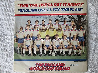 ENGLAND WORLD CUP SQUAD - THIS TIME..7 inch 45rpm jukebox vinyls single 1980s