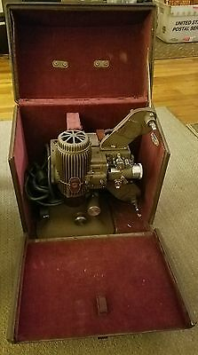 Vintage Bell & Howell FILMO Diplomat 16MM Film Projector in Carrying Case WORKS!