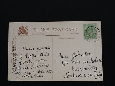 1909 Pc Postmarked North Western T.P.O. Going South