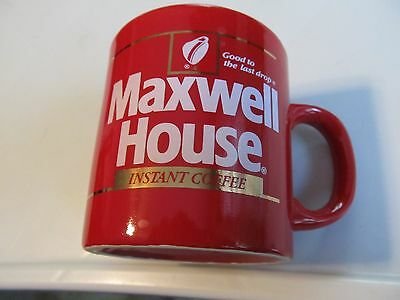 Vintage Maxwell House Instant Coffee Advertising Mug in Red Excellent Condition