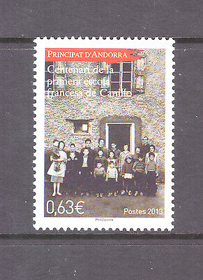 Andorra French  2013 Cultures,French School in Canillo   mint  stamp