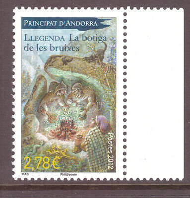 Andorra French  2012 Art, Legends - Bruixes ,  mint  stamp