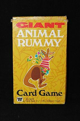 Vintage 1981 Whitman Giant Animal Rummy Card Game- 100% Complete!