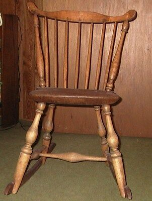 Antique 1780s Windsor American Chair Wood