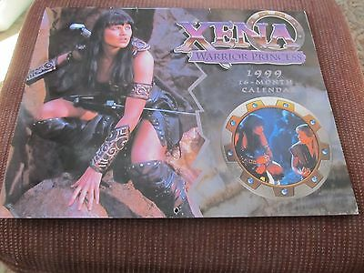 Xena Warrior Princess 1999 Large Picture 16 Month Wall Calendar Excellent
