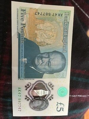New £5 Note With Amazing Number !!!!