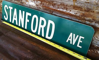 """6"""" x 24"""" Authentic """"STANFORD AVE"""" STREET TRAFFIC HIGHWAY ROAD INTERSTATE SIGN"""