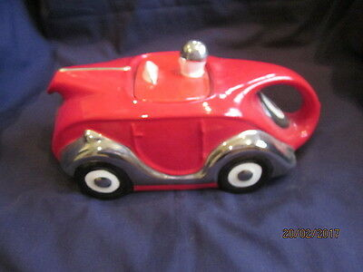 Very Rare Sadler  Red Racing Car Limited Edition Of100 For Teapot 2000