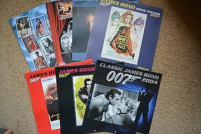 James Bond 007 James Bond Calendars 2004 – 2009 & 2011 Seven In Total