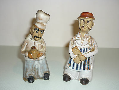 Two Tremar Pottery Figures - Baker and Butcher