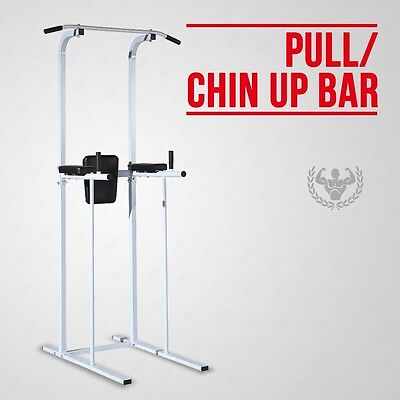 Fitness Power Tower Dip Station Gym Home Fitness Exercise AB Pull/Chin Up Bar